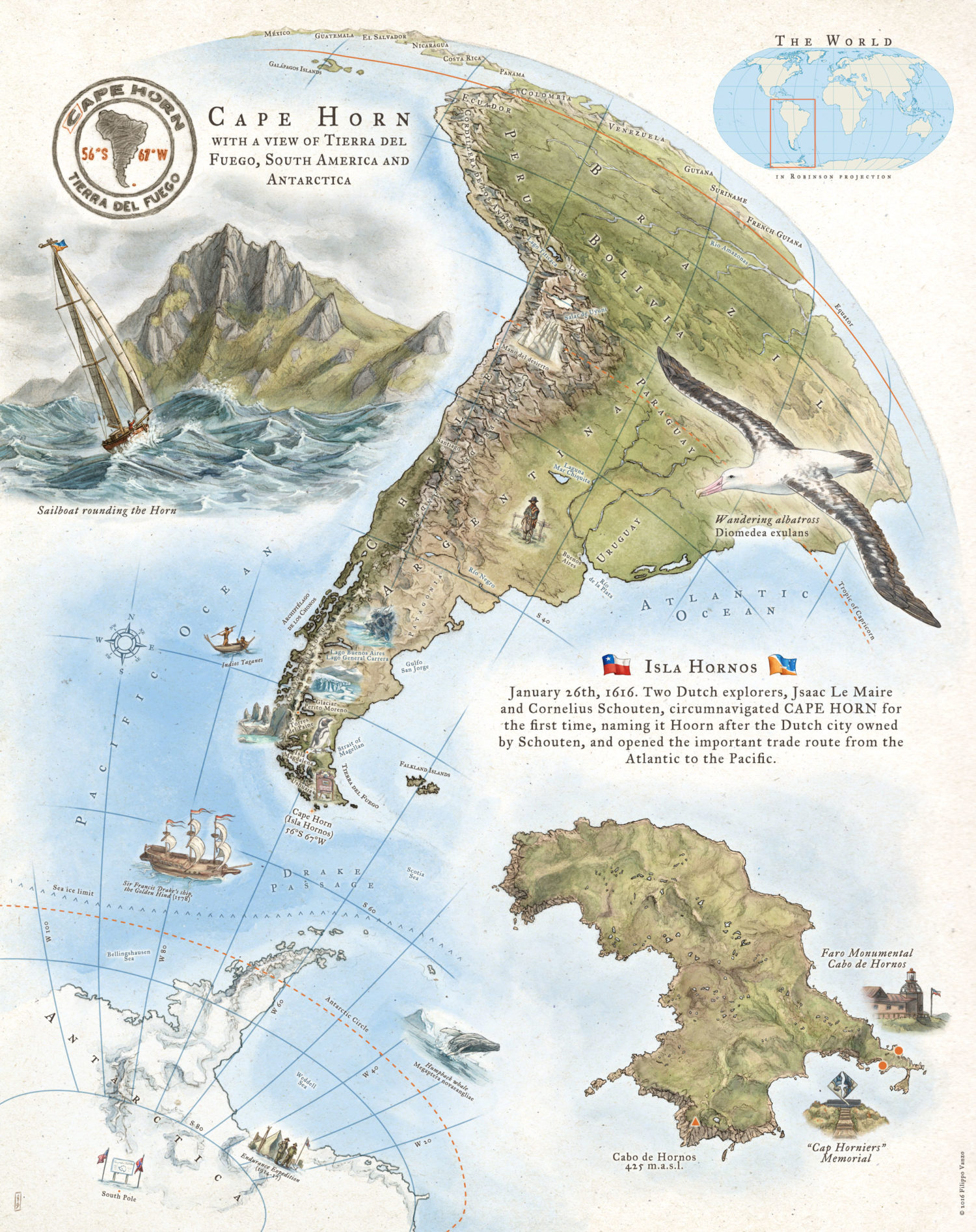 Cape Horn On South America Map.How I Create Cape Horn Map The Last Mapmaker